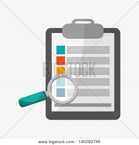 checklist lupe medical health care hospital icon. Colorful design. Vector illustration