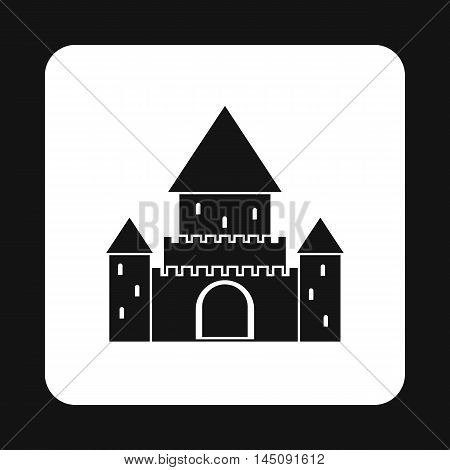 Ancient palace icon in simple style isolated on white background. Structure symbol
