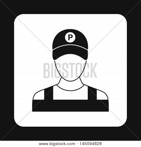 Man valet icon in simple style isolated on white background. People symbol