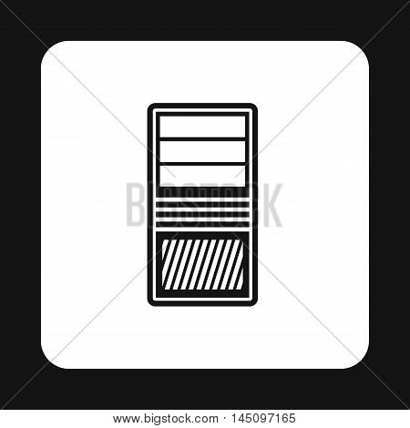 System unit of computer icon in simple style isolated on white background. Case symbol