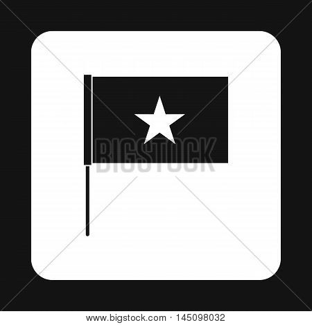 Flag of Vietnam icon in simple style isolated on white background. State symbol