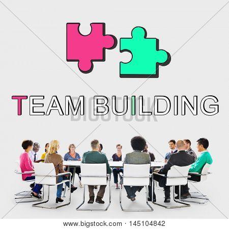 Team Alliance Association Cooperation Graphic Concept