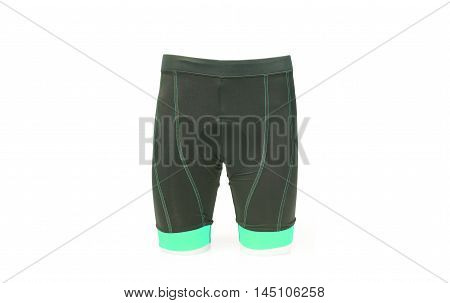 a bike shorts with a chamois pad for comfortable riding in cyan color