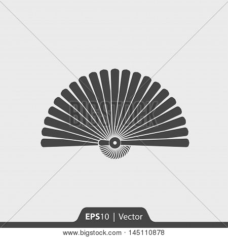 Hand Fan Vector Icon For Web And Mobile