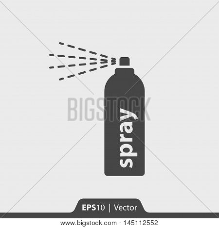 Spray can vector icon for web and print