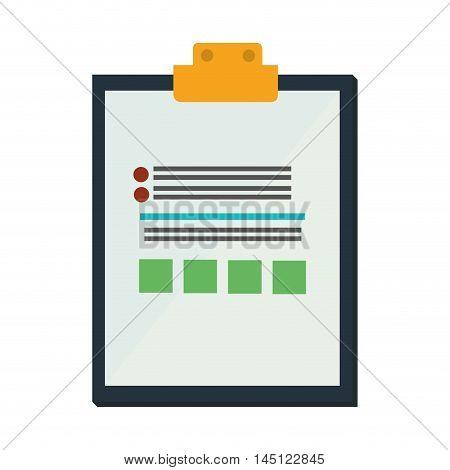 clipboard check list  icon design, vector illustration