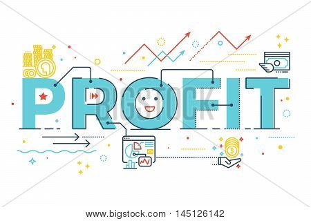 Profit Word Lettering