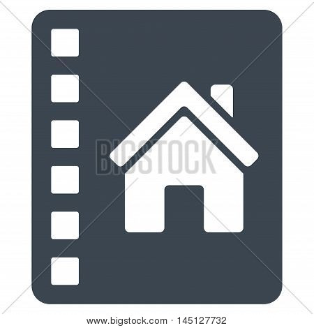 Realty Catalog icon. Vector style is flat iconic symbol, smooth blue color, white background.
