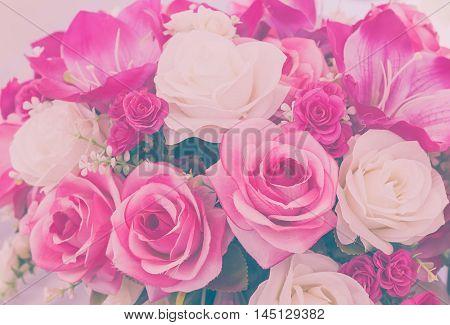 Rose Fake Flower Handmade Sewing Flowers Vintage Tone