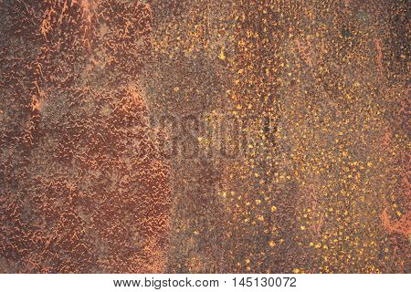 abstract of rust on iron texture for background used