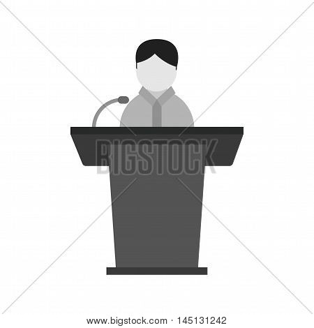President, elections, speaker icon vector image. Can also be used for elections. Suitable for mobile apps, web apps and print media.