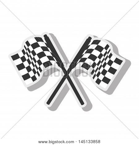 flag car race design isolated vector illustration eps 10