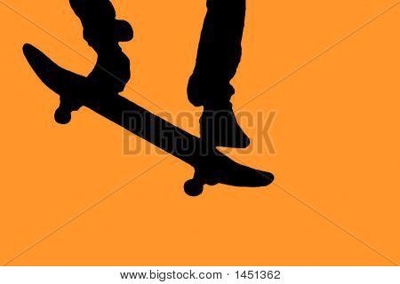 Silhouette Skateboarder