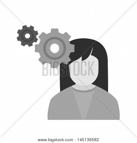 Intelligence, perception, interview icon vector image. Can also be used for employment. Suitable for use on web apps, mobile apps and print media.
