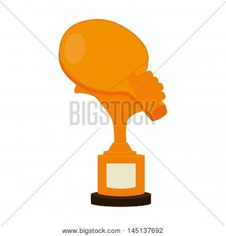 trophy table tennis racket vector illustration esp 10
