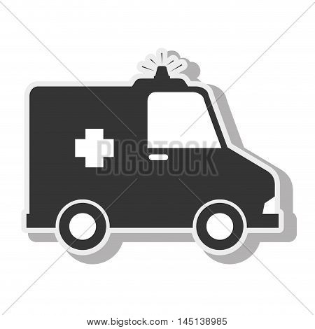ambulance emergency urgency siren design vector illustration eps 10