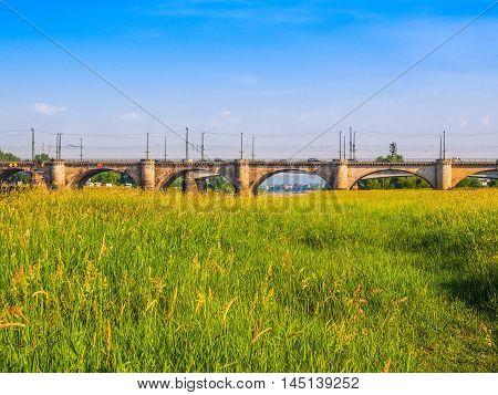 Elbe River In Dresden Hdr