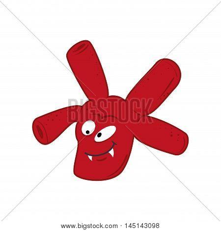 bacterium virus germ facial expressions design vector illustration eps 10
