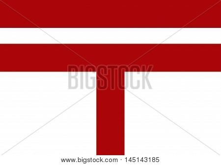 Vector of Japanese cultural flag of postal flag. Vector illustration flag design.