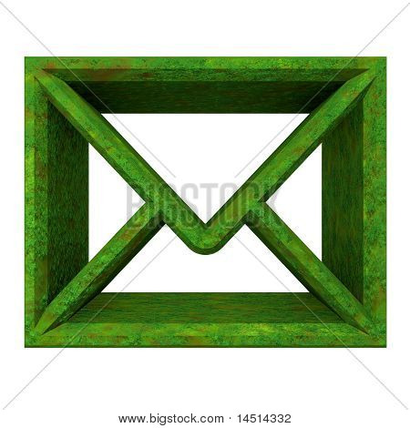 Envelope Email Symbol In Grass (3D)