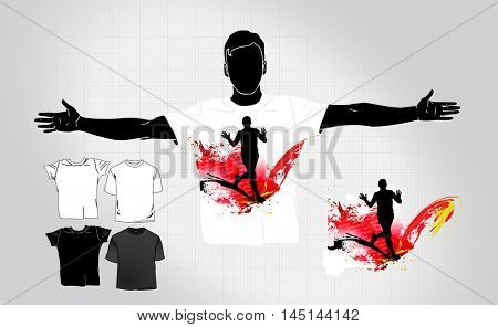 Man's t-shirt with sport design