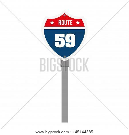 sing high way road isolated vector illustration eps 10