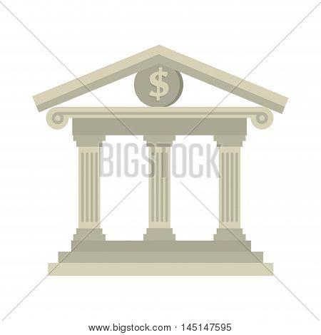 building bank money dollar isolated vector illustration esp 10