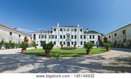 Historical elegant residence of Villa Beretta, Lauzacco, Friuli, Italy