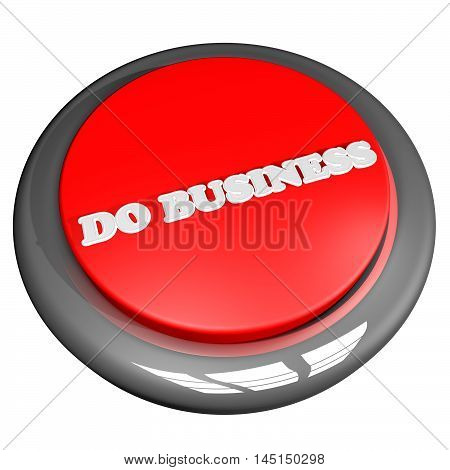 Do Business Button Isolated Over White