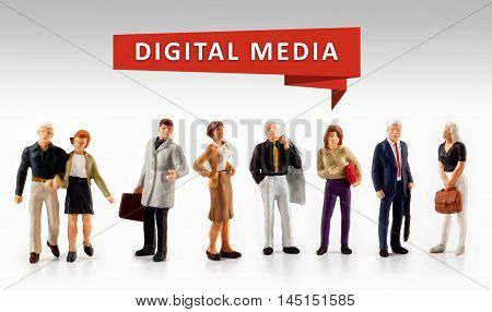 group of people - Digital Media Technology Concept
