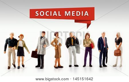 group of people - Social Media and Connection Concept