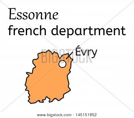 Essonne french department map on white in vector