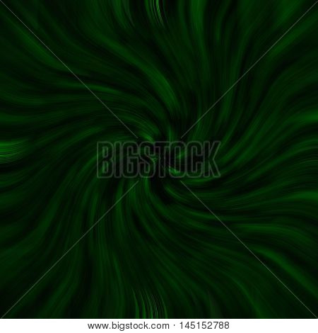 an images of Green-black background light twirl effect