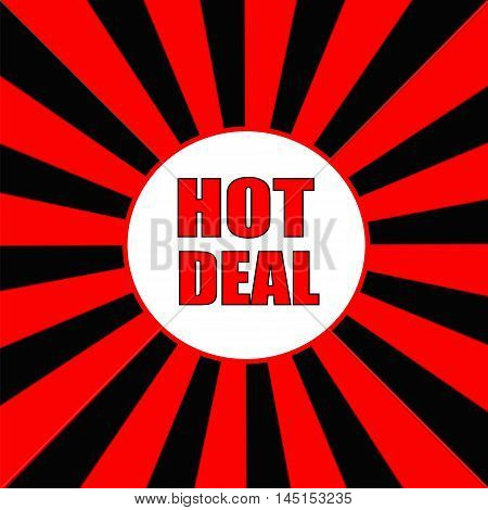 hot deal Red wording on Striped sun Red-Black background