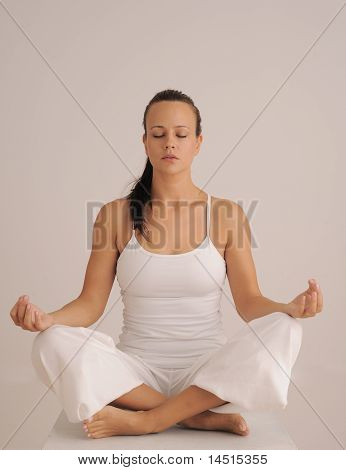 Sitting Yoga Meditation Pose