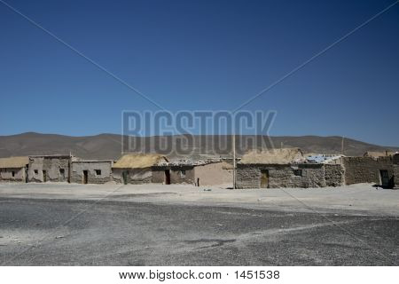 Adobe Houses - Julaca Village, In Potosi - Bolivia