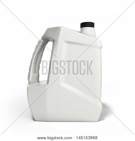 Plastic Canister For Motor Oil 3D Render Isolated On White Background