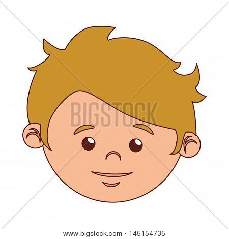 boy cartoon face blond hair isolated vector illustration eps 10