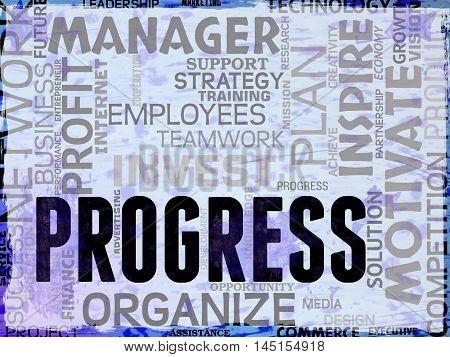 Progress Words Show Betterment Headway And Advancement