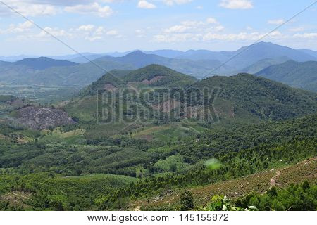 Aerial View Of Hills And Mountains In Gia Lai, Vietnam