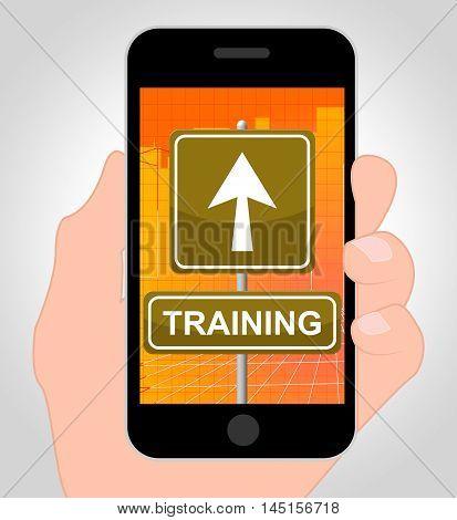 Training Online Means Internet Learning 3D Illustration
