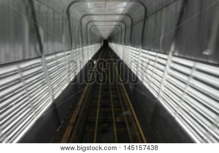 train tunnel with motion Blur Moving in Deep tunnel under : space for text and can be used as background