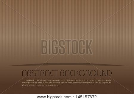 Striped vintage background. Brown cardboard texture pattern. Vector brown vintage background.