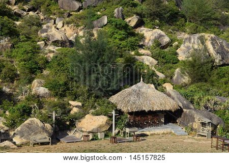 Camping Site With Tent And Shelter
