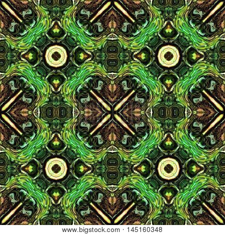 Abstract green decorative multicolor texture - kaleidoscopic pattern