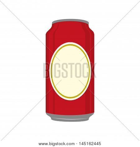 icon beer can drink liquid isolated vector illustration eps 10