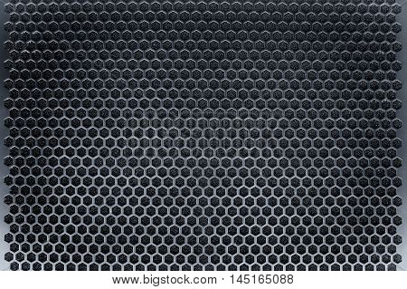 Seamless metal mesh used in industrial applications.
