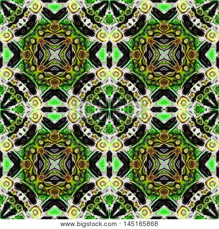 Abstract decorative multicolor texture - kaleidoscopic pattern