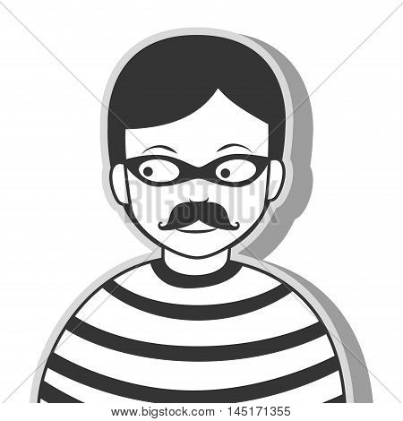 icon man criminal thief stealing isolated vector illustration eps 10