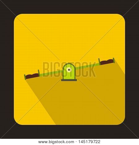 Seesaw icon in flat style isolated with long shadow